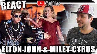 ELTON JOHN & MILEY CYRUS GRAMMY 2018 Performance Marcio Guerra Reagindo Live Pop Disco