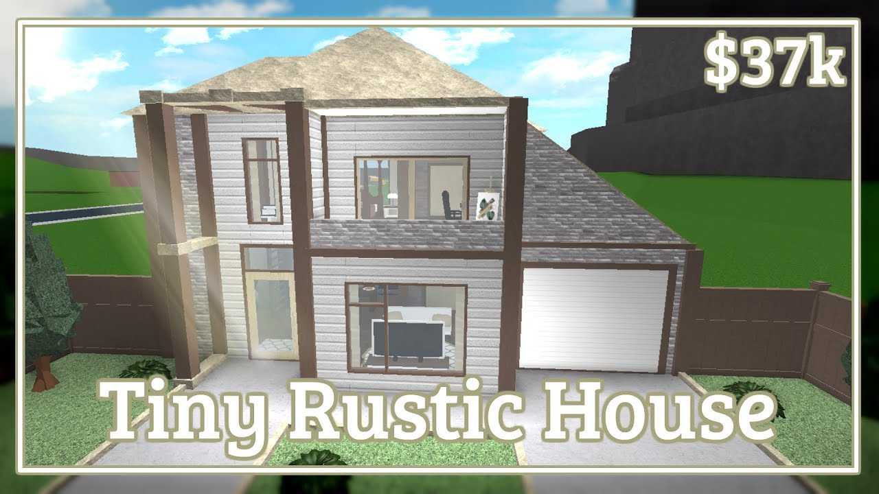 Bloxburg Tiny Rustic House Speed Build Youtube