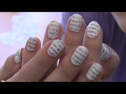 How To Do Newspaper Nail Art How To Achieve Newspaper Nail Art On