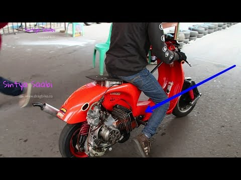 WoW,,, Drag VESPA Mesin Bureng Rx King Dan Ninja 2tak Stroke