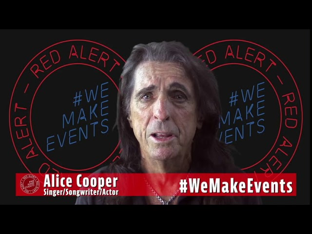 Alice Cooper supports #WeMakeEvents & the Events Industry Supply Chain