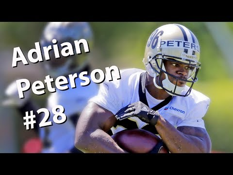 Adrian Peterson in New Orleans Saints Minicamp drills