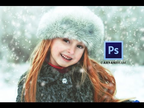 How To Create Snow Falling Effect In Photoshop cc | Matte Effect | Best Color Effect