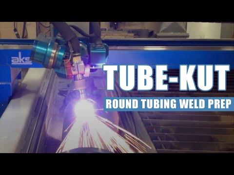 AKS 'tube-kut' round tubing weld prep