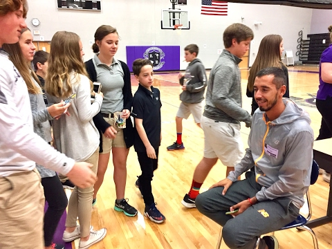 At River Ridge Academy, running and life tips from an Olympian