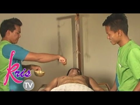 Daniel Matsunaga is rubbed down on 'Kris TV '