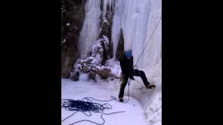 Ледолазание - обучение 1-й водопад Руфабго
