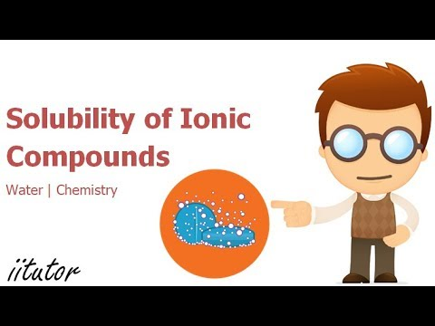 √ Solubility Of Ionic Compounds | Water | Chemistry