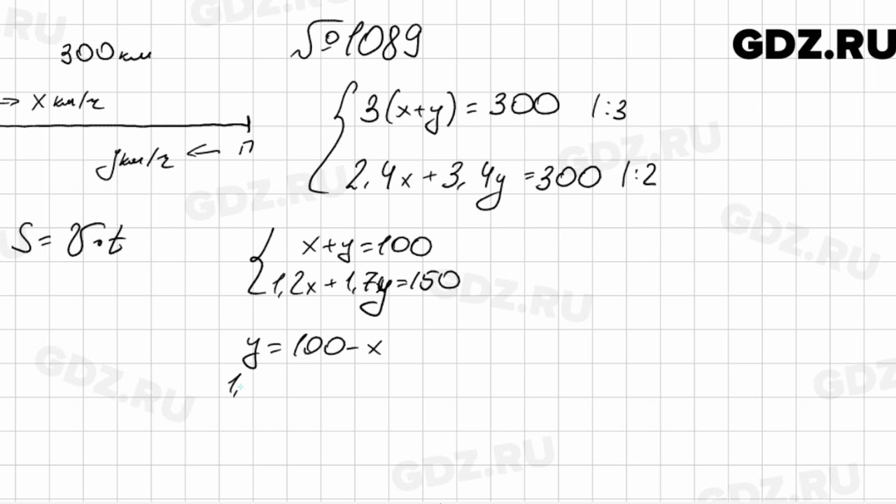Класс алгебра гдз 7 1089
