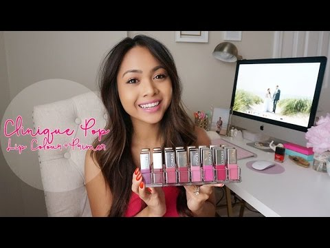 NEW Clinique Pop Lip Colour + Primer Review & Lip Swatches! | Charmaine Dulak