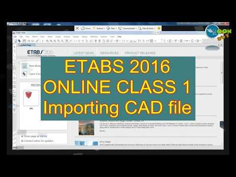ETABS 2016 Tutorial 11 | CAD Import, Grid Editing, Adding new Story | Moonboy