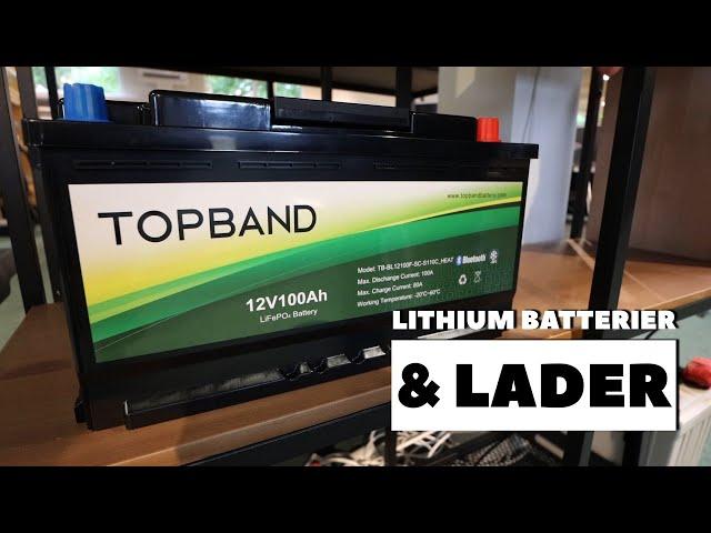 Lithium batterier og lader