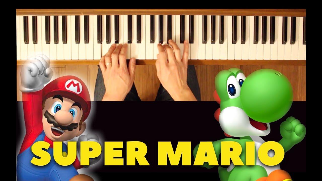 Rainbow road (mario kart wii) [easy-intermediate piano tutorial.