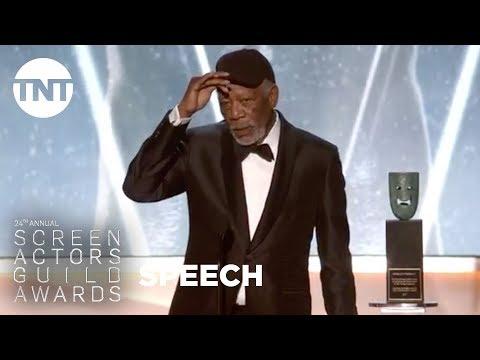 Morgan Freeman: Lifetime Achievement Award | 24th Annual SAG Awards | TNT
