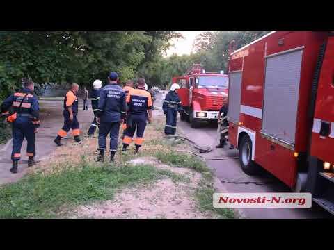 Видео 'Новости-N': В Николаеве горит заброшенное здание