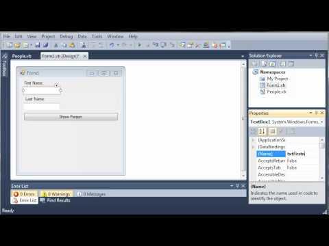 Visual Basic Tutorial - 103 - Accessing Classes In Namespaces