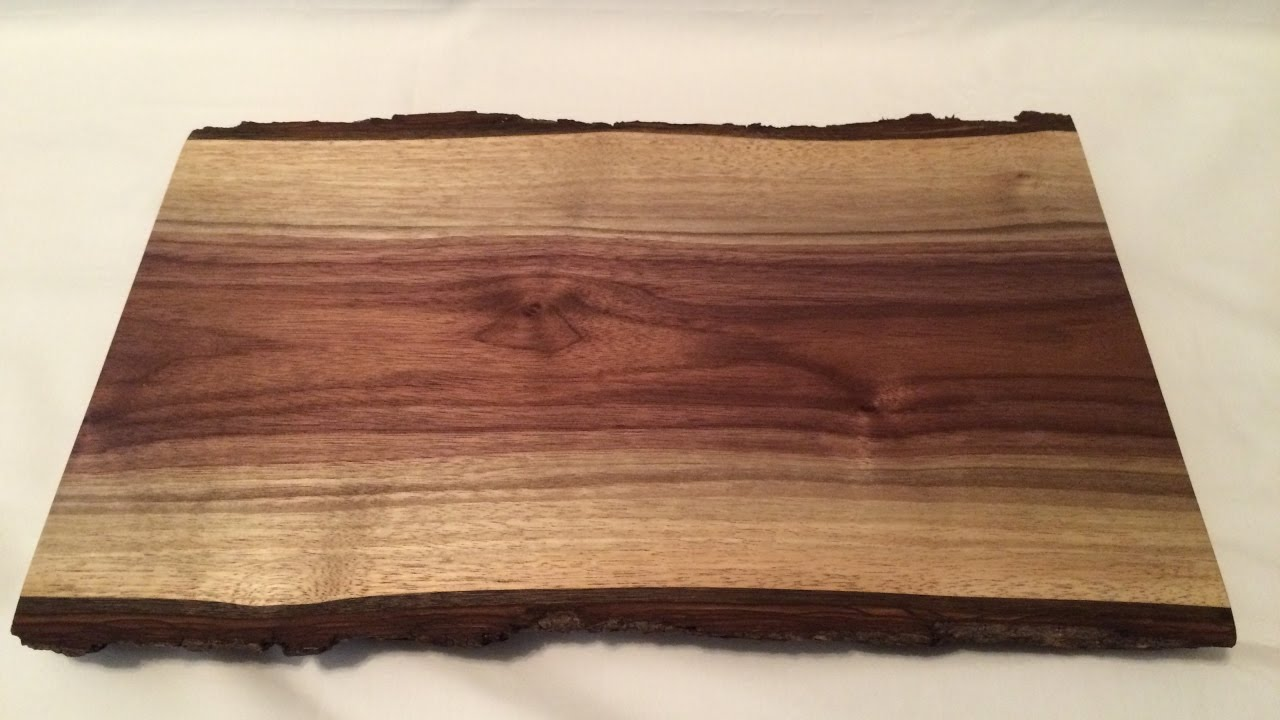 Live Edge Walnut Cutting Boards Serving Trays Youtube