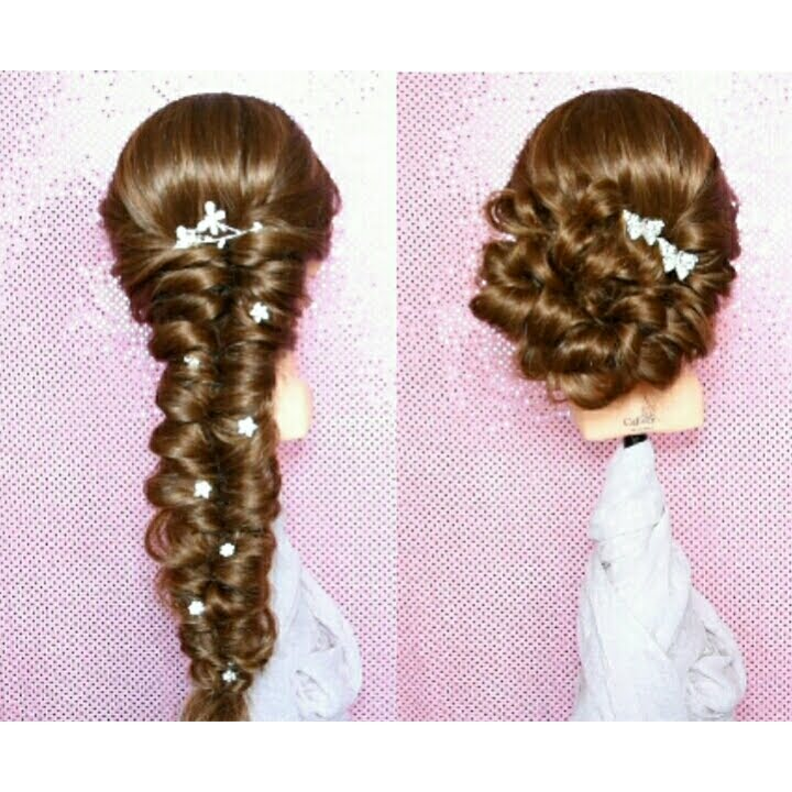 Super Acconciatura Sposa capelli lunghi con Caliven Testamodelle QW47