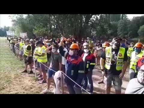 Nueva protesta de trabajadores de Alcoa en una jornada clave