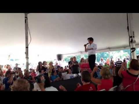 Dean Z Ultimate Elvis Champion singing...