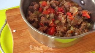 Kavanozda Patlıcanlı Et Yemeği Tarifi- En kolay Ana Yemek Tarifi- Tadimiz Tuzumuz