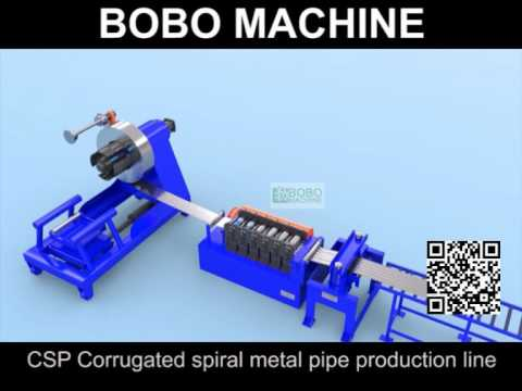 sc 1 st  YouTube & CSP Corrugated spiral metal pipe production line - YouTube
