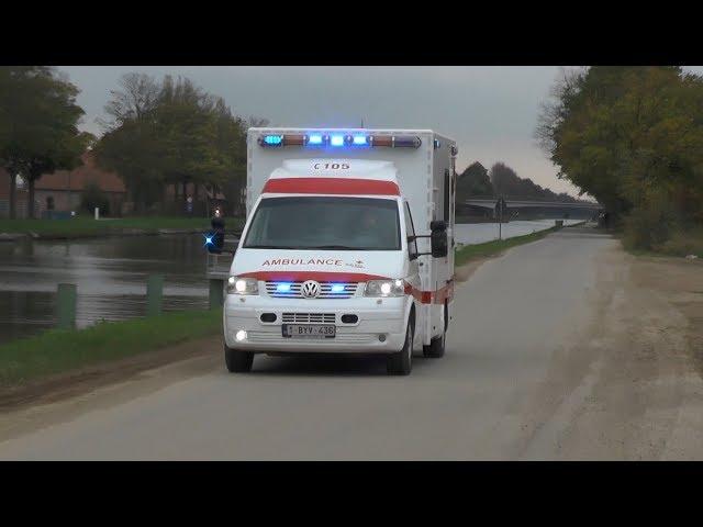 Verschillende zwaailichten en sirene shows in Nederland en Belgie