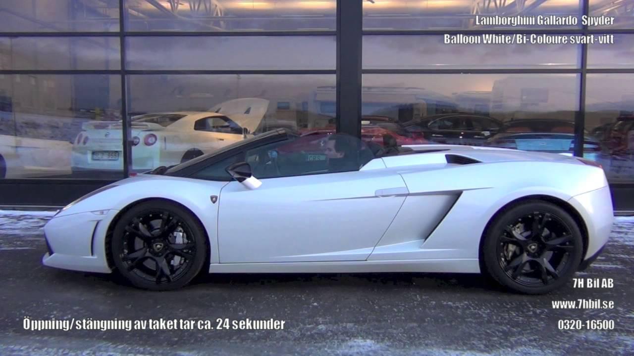 Lamborghini Gallardo Spyder Balloon White 7h Bil Ab Youtube