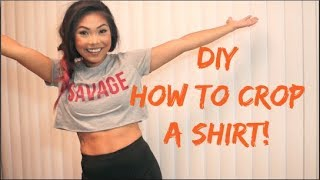 DIY | EASIEST Wąy to Crop a Shirt!
