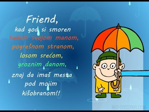 rođendanske čestitke za prijatelja Pod mojim kišobranom   čestitke (Prijatelji)   YouTube rođendanske čestitke za prijatelja