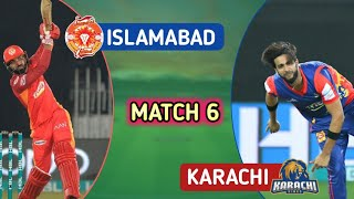 PSL 2021 Amazing Match Between  Slamabad United And KARACH  K NGS