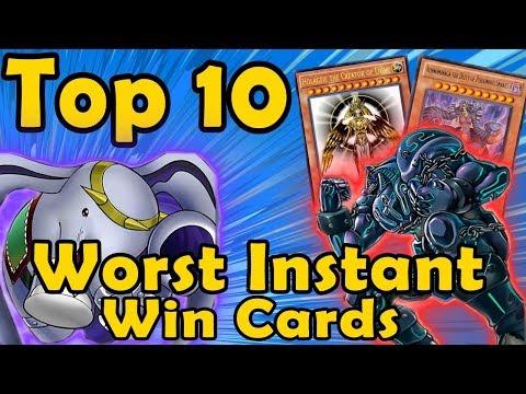 Top 10 Worst Instant Win Cards in YuGiOh