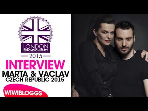 Interview: Marta and Václav (Czech Republic 2015) @London Eurovision Party 2015 | wiwibloggs