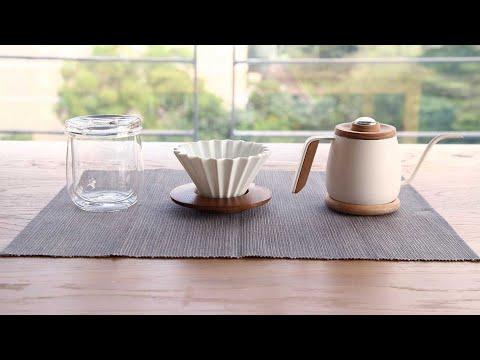 Simple Real TAMAGO單人咖啡手沖壺350ml含溫度計隔熱原木墊