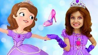 Little Princess Sofia the First Makeup & Dress up! Super Elsa