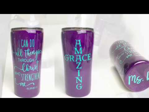 Glitter Epoxy Tumbler Tutorial Using Loctite Method