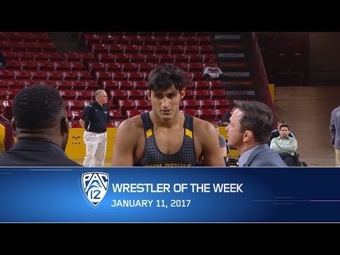 Arizona State's Anthony Valencia named Pac-12 Wrestler of the Week