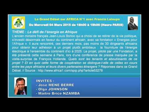 Le défi de l'énergie en Afrique, Fondation Energies pour l'Afrique de Jean-Louis Borloo