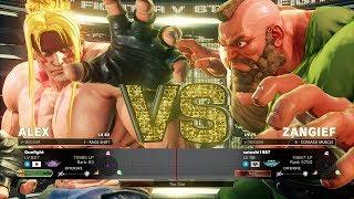 Gunfight (Alex) vs. Satoshi (Zan) & Kosaku (Necalli)-Street Fighter V