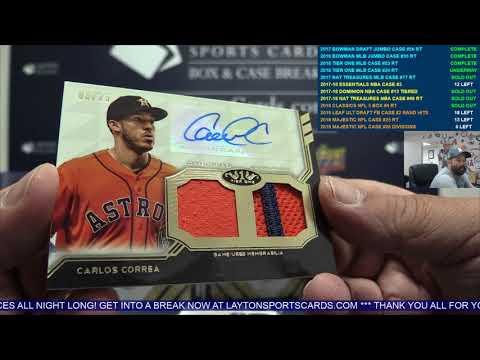 2018 Topps Tier One Baseball 12 Box Case Break #24