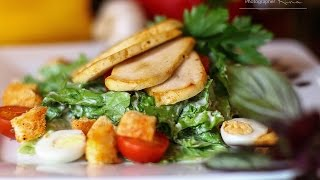 Салат цезарь и вкусный обед FOOD PHOTO