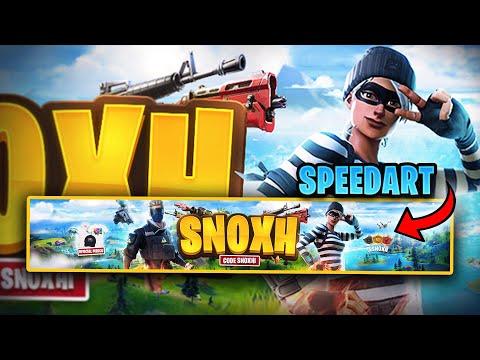 Snoxh Fortnite Youtube Banner - Speedart By EdwardDZN