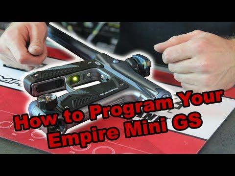 How To Program The Empire Mini GS | Jaegers Subsurface Paintball