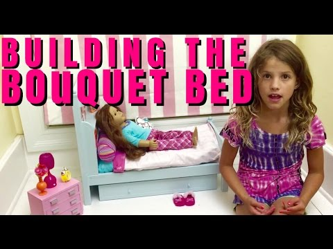 Setting Up American Girl Doll Bouquet Bed