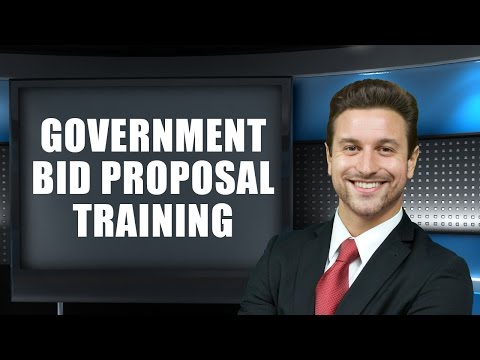 Government Bid Proposal Training