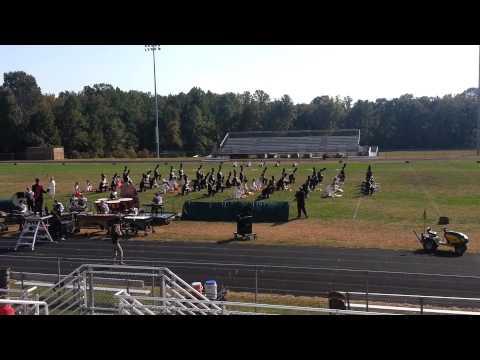 Great Mills High School Marching Band @ Chopticon High School 10-05-2013