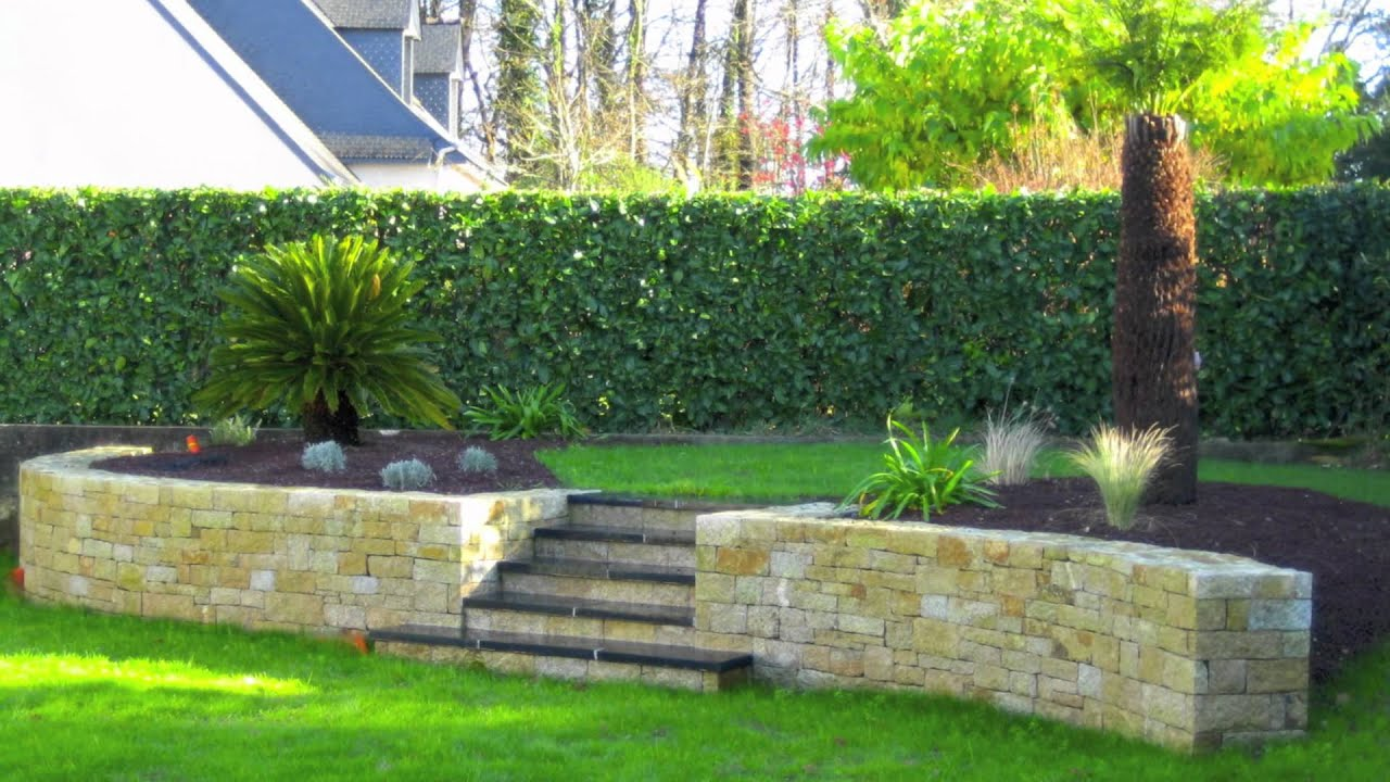 paysagiste vannes youtube With jardin en pente amenagement 1 amenagement de jardin en pente creation de soutanement 224