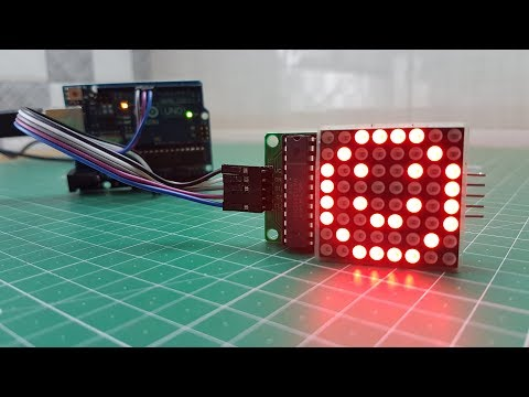 Arduino LED 8X8 Matrix Display MAX7219