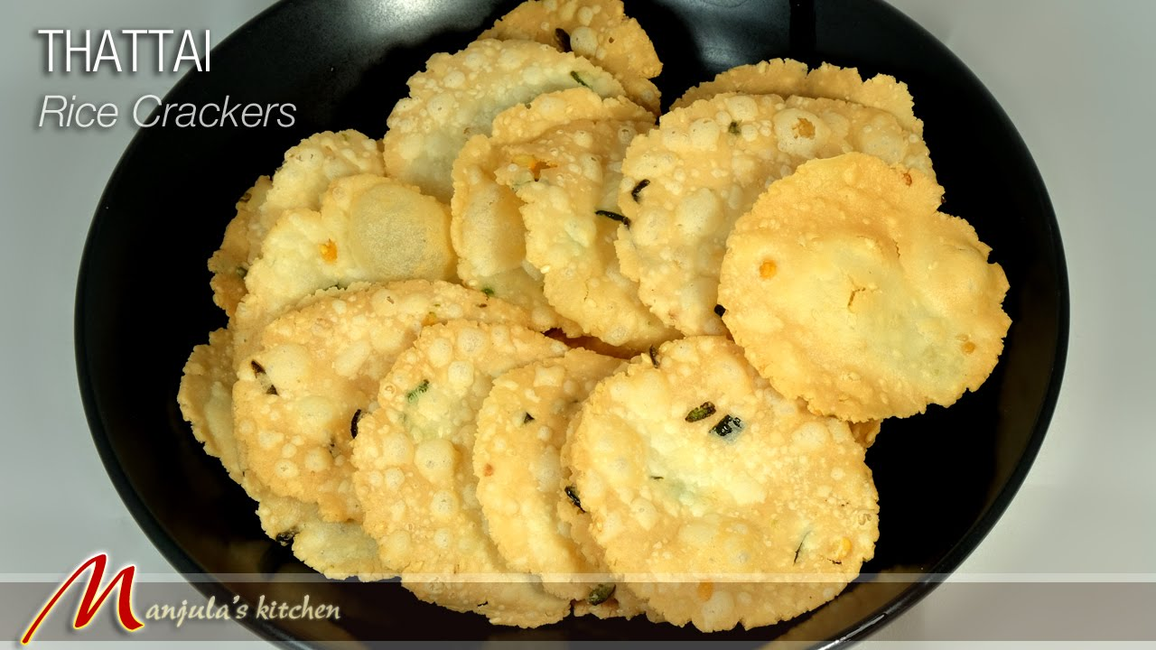 Thattai (Rice Crackers) Recipe by Manjula - YouTube