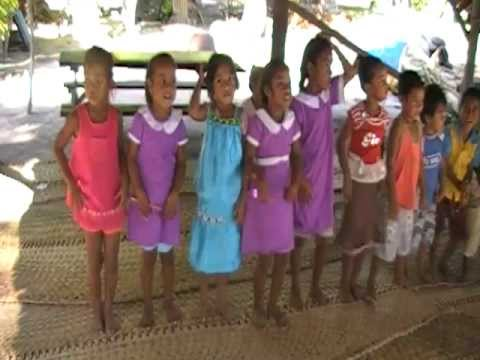 Cute Fanning Island Pre-schoolers Dancing for Us